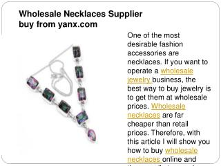 Wholesale Necklaces Supplier