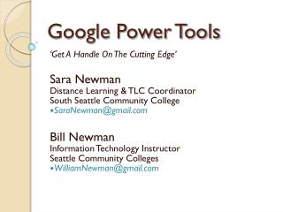 Google Power Tools