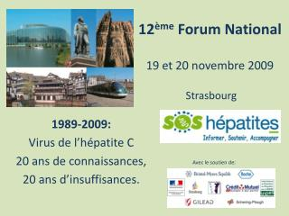 12 �me  Forum National 19 et 20 novembre 2009  Strasbourg