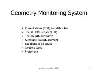 Geometry Monitoring System