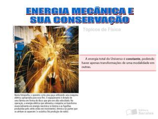 ENERGIA MECÂNICA E SUA CONSERVAÇÃO