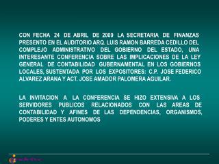 LEY GENERAL DE CONTABILIDAD GUBERNAMENTAL Y SUS IMPLICACIONES PARA LOS  GOBIERNOS LOCALES