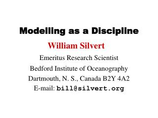 Modelling as a Discipline