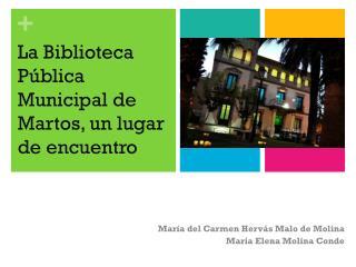 María del Carmen  Hervás  Malo de Molina María Elena Molina Conde