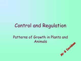 Control and Regulation