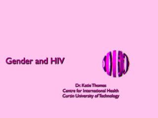Gender and HIV