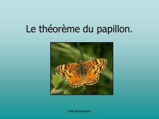 Le théorème du papillon.