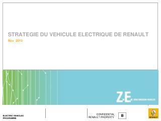 STRATEGIE DU VEHICULE ELECTRIQUE DE RENAULT