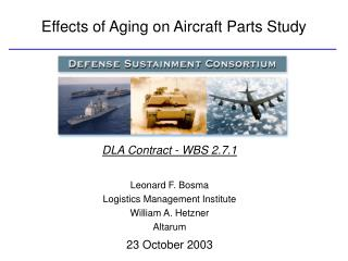 Effects of Aging on Aircraft Parts Study