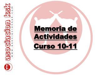 Memoria de Actividades Curso 10-11
