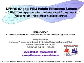 DFHRS (Digital FEM Height Reference Surface)