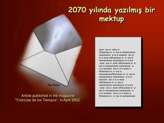 2070 yılında yazılmış bir mektup