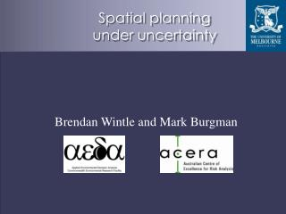 Spatial planning under uncertainty