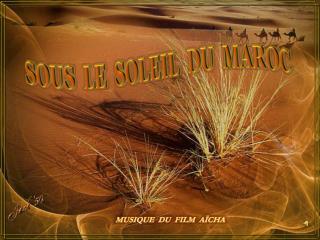 SOUS  LE  SOLEIL  DU  MAROC