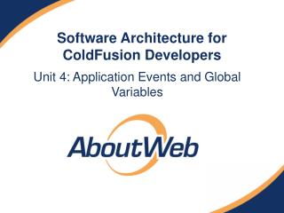 Software Architecture for ColdFusion Developers