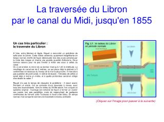 La traversée du Libron par le canal du Midi, jusqu'en 1855