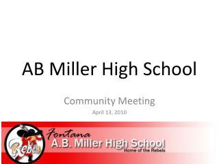 AB Miller High School