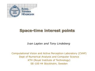 Space-time interest points