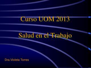 Curso UOM 2013 Salud en el Trabajo