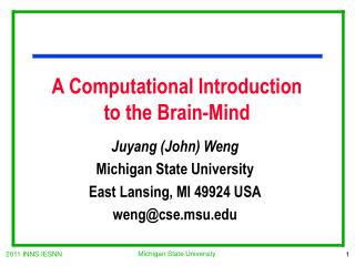 A Computational Introduction  to the Brain-Mind