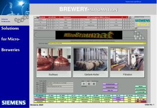 BREWERY- AUTOMATION Solutions for Micro- Breweries