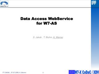Data Access  WebService for W7-AS
