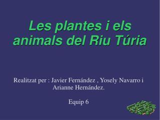 Les plantes i els animals del Riu T�ria