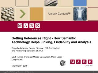 Getting References Right - How Semantic Technology Helps Linking, Findability and Analysis