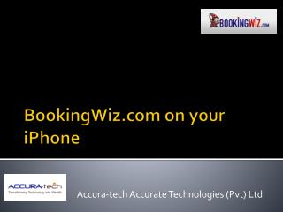 BookingWiz on your  iPhone