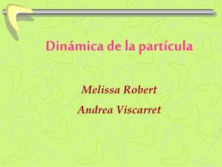 Dinámica de la partícula Melissa Robert Andrea Viscarret