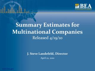 Summary Estimates for Multinational Companies Released 4