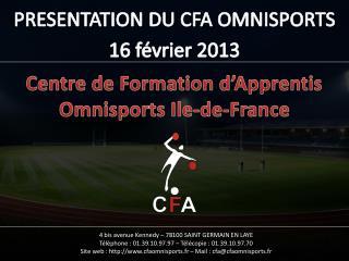 Centre de Formation d'Apprentis Omnisports Ile-de-France