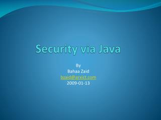 Security via Java