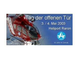 """Willkommen zur Photogalerie Air Zermatt """"Tag der offenen Tür"""" in Raron VS"""