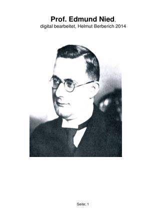 Prof. Edmund Nied , digital bearbeitet, Helmut Berberich 2014