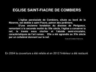 EGLISE SAINT-FIACRE DE COMBIERS