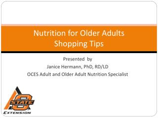 Nutrition for Older Adults Shopping Tips