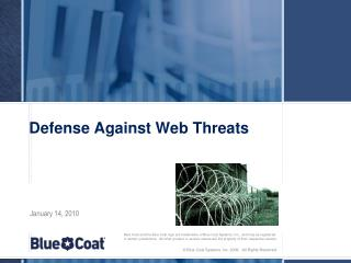 Defense Against Web Threats