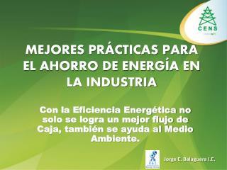 MEJORES PRÁCTICAS PARA EL AHORRO DE ENERGÍA EN LA INDUSTRIA