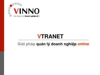 Gi?i ph�p qu?n l� doanh nghi?p online