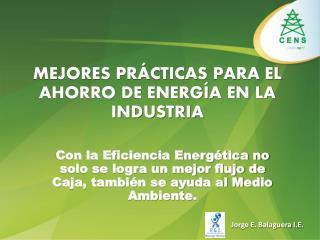 MEJORES PR�CTICAS PARA EL AHORRO DE ENERG�A EN LA INDUSTRIA