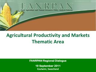 Agricultural  Productivity  and  Markets Thematic Area