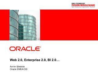Web 2.0, Enterprise 2.0, BI 2.0…