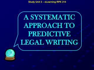Study Unit 3 – eLearning  RPK  214