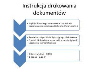 Instrukcja drukowania dokumentów