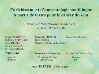 Enrichissement d'une ontologie multilingue à partir de textes pour le cancer du sein