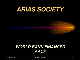 WORLD BANK FINANCED  AACP