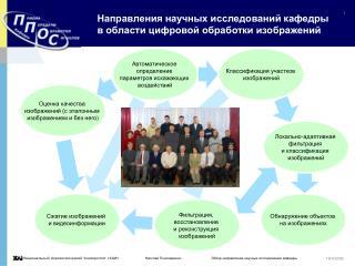 Направления научных исследований кафедры в области цифровой обработки изображений