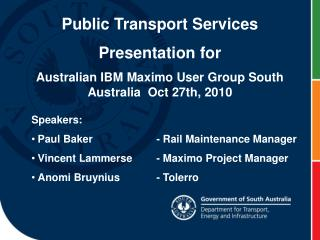 Public Transport Services Presentation for