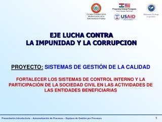 PROYECTO:  SISTEMAS DE GESTIÓN DE LA CALIDAD